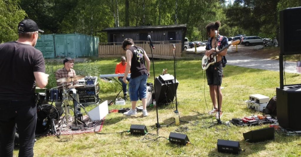 The Jamnation Band performing for American Club of Sweden Annual Independence Day Picnic